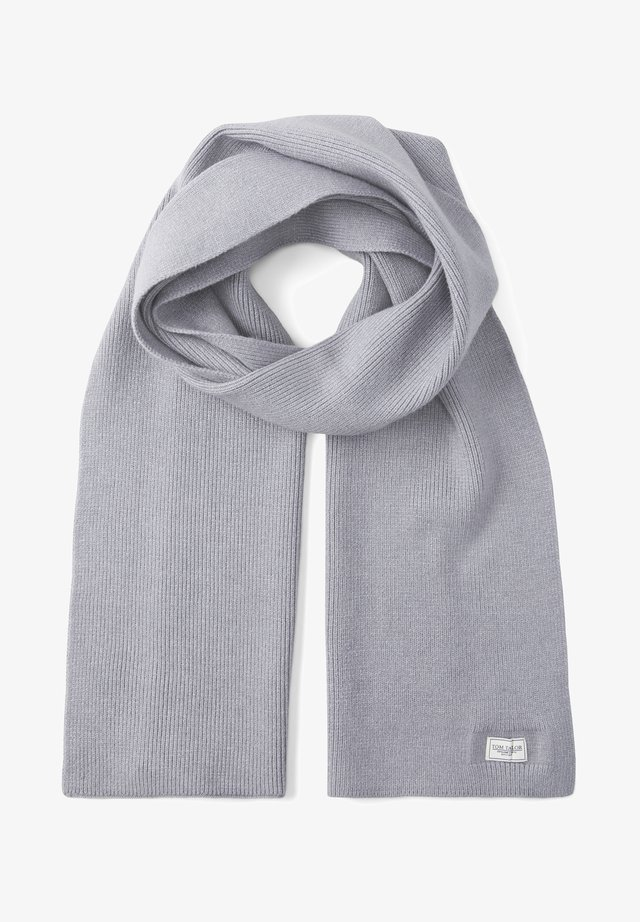 Scarf - knit grey melange
