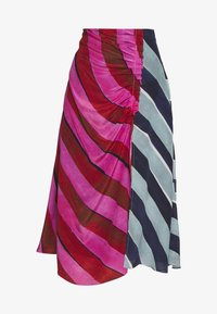 House of Holland - STRIPE GATHERED MIDI SKIRT  - A-line skirt - pink/blue - 3