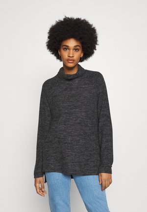 VMTAMMI HIGH NECK  - Sweter - dark grey melange