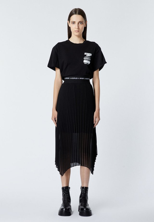 JUPE - A-line skirt - black