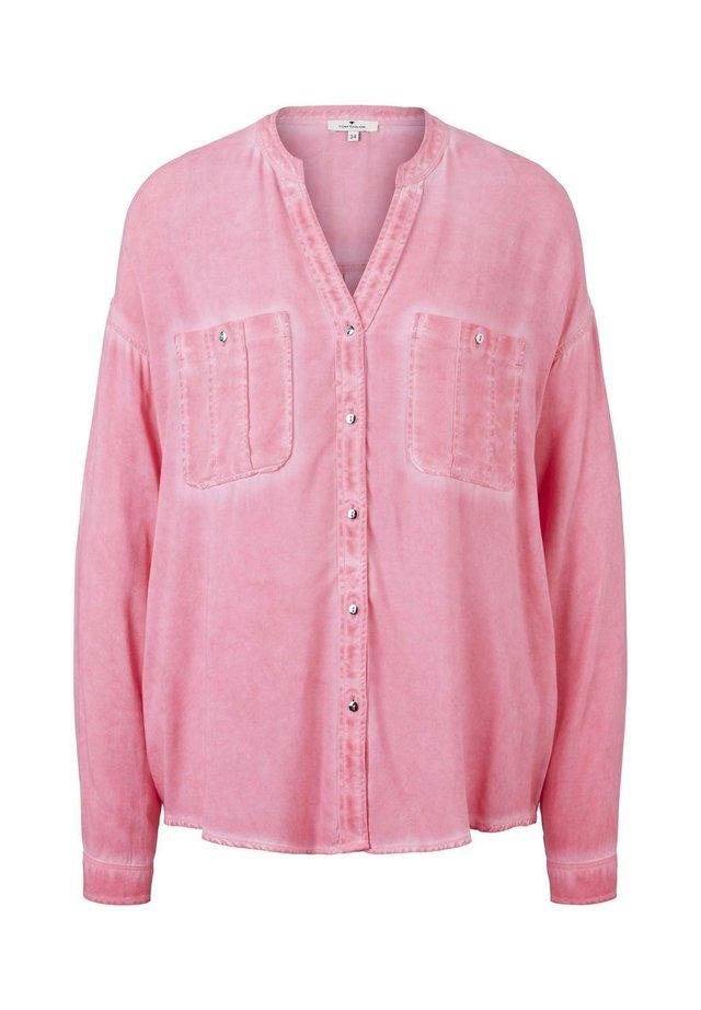 BLOUSE PIGMENT DYED - Bluzka - charming pink