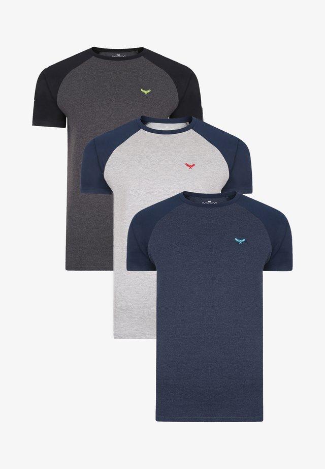 TEE RAGLAN 3 PACK - T-shirt basic - multi
