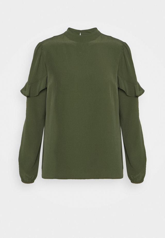 TIERED LONG SLEEVE - Blouse - dark green