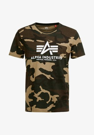 T-shirt con stampa - woodland camo