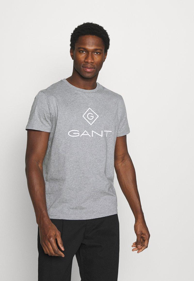 GANT - LOCK UP  - T-shirt med print - grey melange