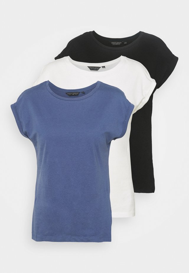 ROLL SLEEVE TEE 3 PACK - T-shirt basic - blue