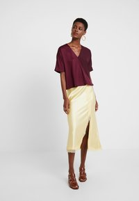 French Connection - ALESSIA WRAP  - Blouse - berry blush - 2