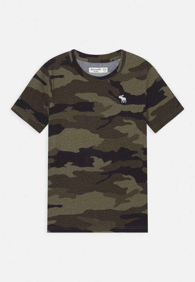 FASH - T-shirt med print - khaki