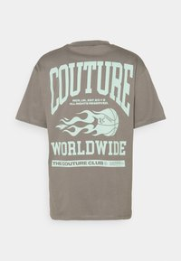 The Couture Club - COUTURE WORLDWIDE VARSITY GRAPHIC  - Print T-shirt - grey - 1