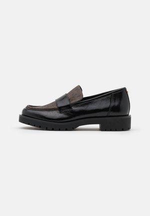 HOLLAND LOAFER - Slip-ons - black/brown