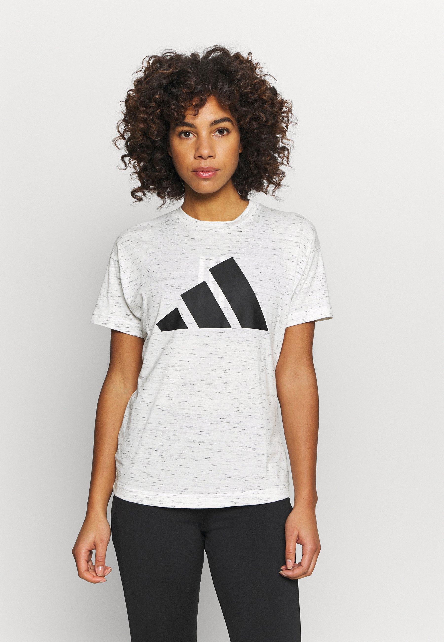 Femme WIN 2.0 TEE - T-shirt imprimé - white melange