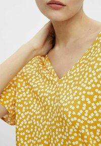 Object - MIT KURZEN ÄRMELN PRINT - T-shirt print - yellow - 3