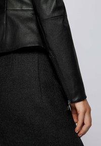 BOSS - SANOA - Leather jacket - black - 4