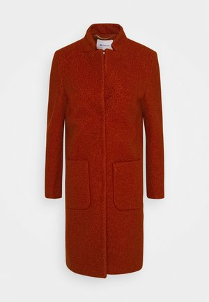 TEDDY COAT - Classic coat - rusty red