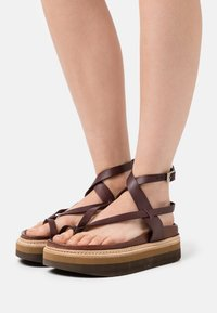 Jeffrey Campbell - ESTRELLA - T-bar sandals - dark brown - 0
