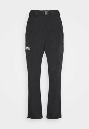 RETRO  PANTS CRINKLE - Cargobyxor - black