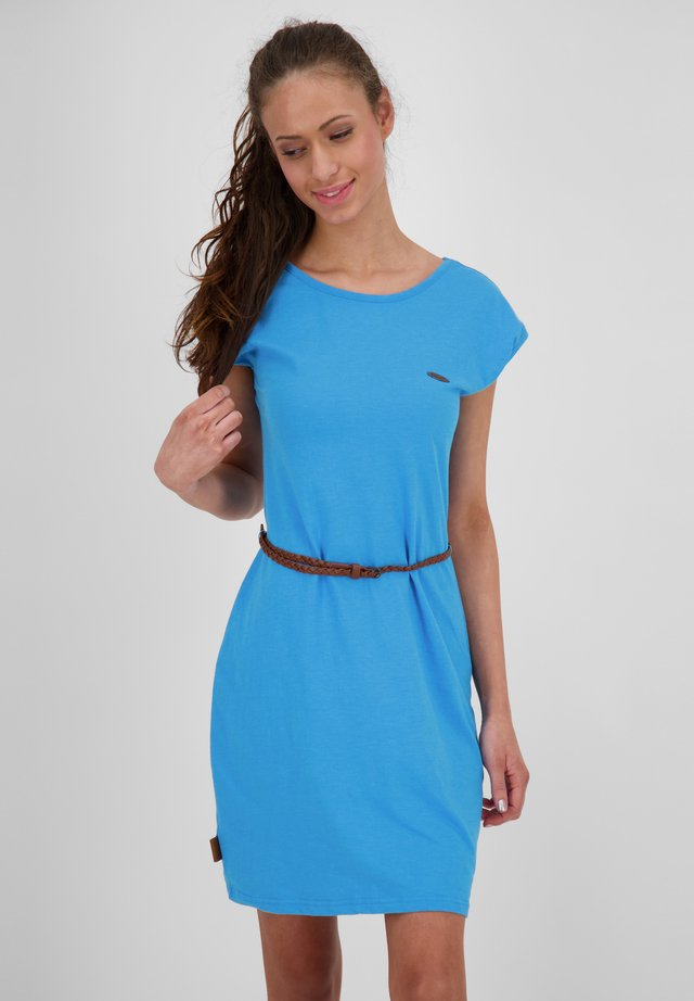 Jersey dress - cobalt
