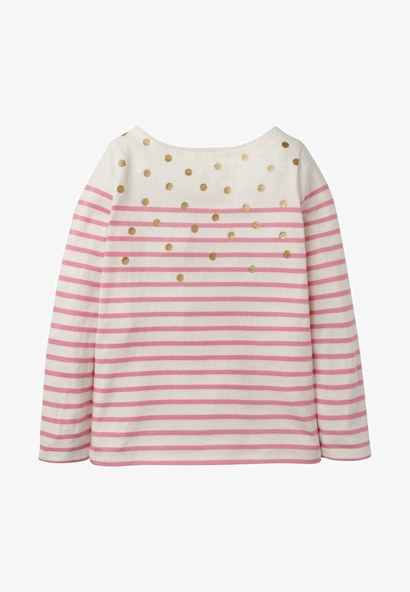 Boden - Long sleeved top - naturweiß/rosa, glitzerpunkte