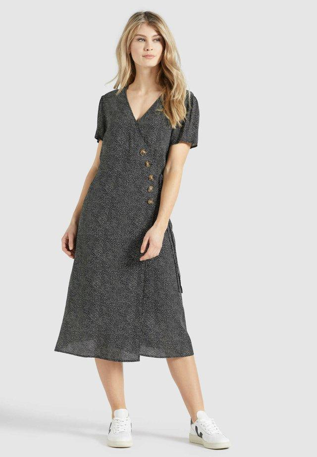 PORGY - Korte jurk - schwarz-weiß gepunktet