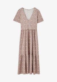PULL&BEAR - MIT BLUMENPRINT - Maxi dress - brown - 5