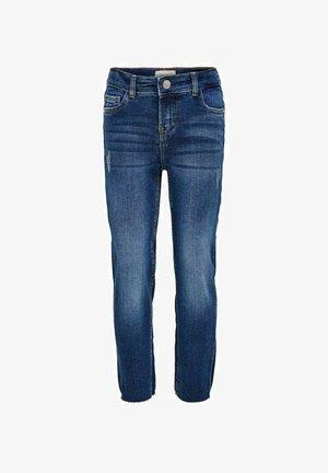 KONEMILY RAW - Straight leg jeans - medium blue denim
