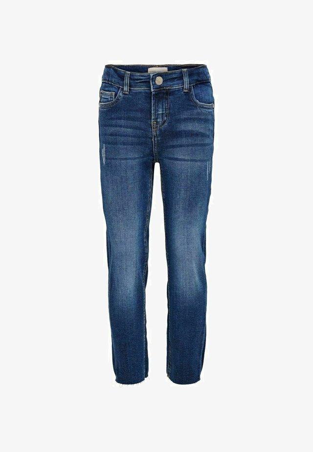 KONEMILY RAW - Jean droit - medium blue denim