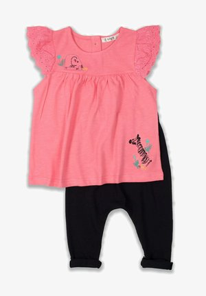 T-SHIRT AND LEGGING SET - Medias - neon pink