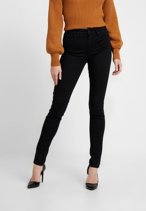 721 HIGH RISE SKINNY LONG SHOT - Jeansy Slim Fit - black