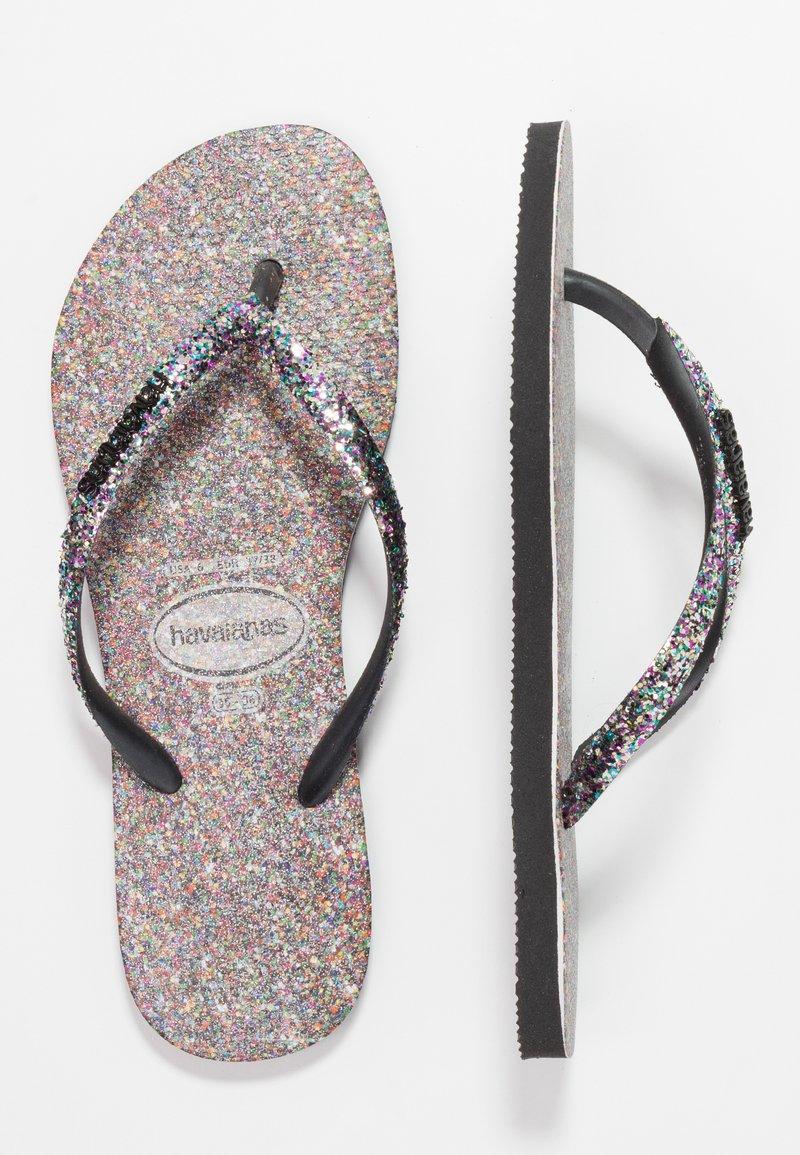 Havaianas - SLIMCARNAVAL - T-bar sandals - black
