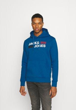 JJECORP LOGO HOOD - Bluza z kapturem - classic blue