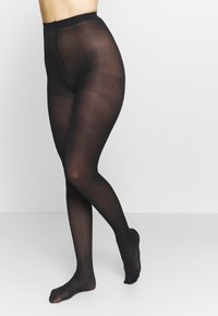 DIM - SEMI OPAQUE THIGHS BEAUTY 2 PACK - Tights - black - 0