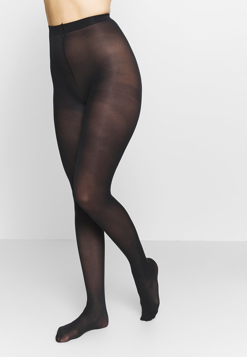 DIM - SEMI OPAQUE THIGHS BEAUTY 2 PACK - Tights - black