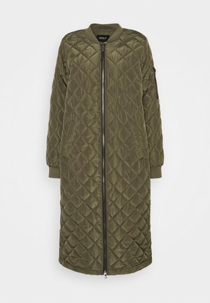 ONLJESSICA LONG QUILTED COAT - Bomber Jacket - kalamata