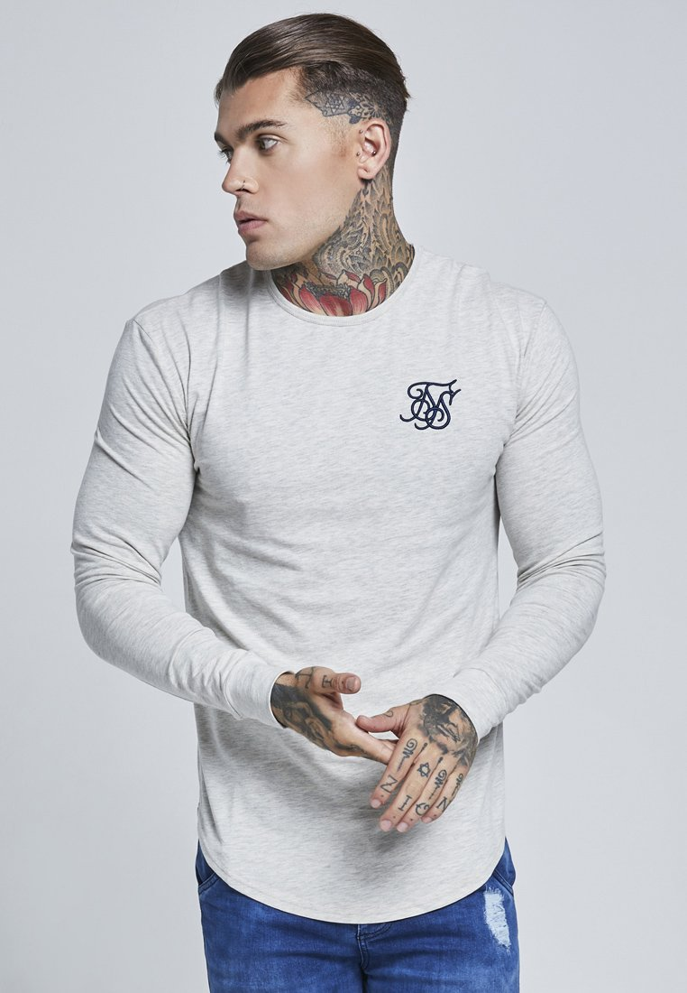 SIKSILK - LONG SLEEVE GYM TEE - Camiseta de manga larga - snow marl