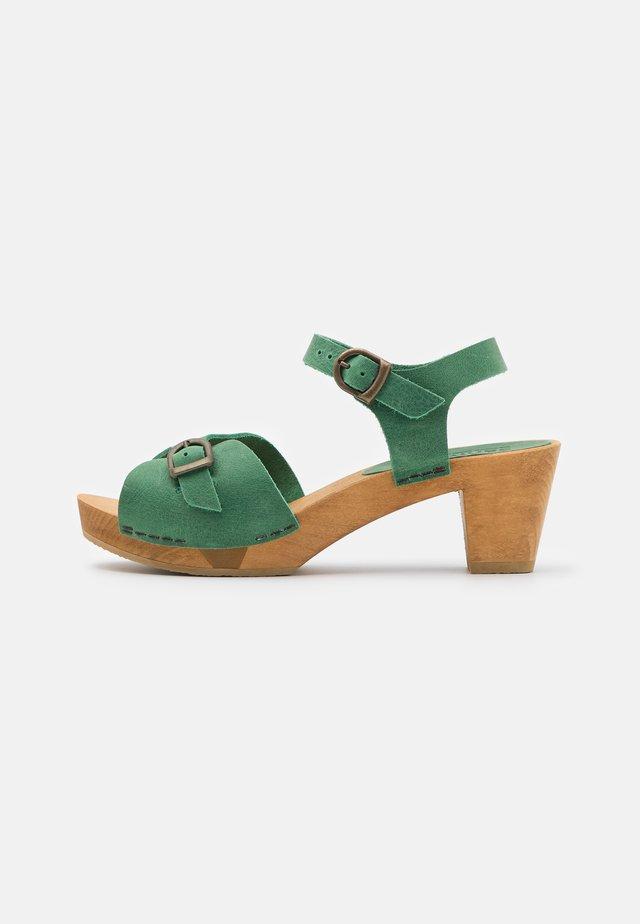 TIANA SQUARE FLEX - Clogs - mint
