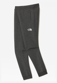 The North Face - Y FLEECE PANT - Tracksuit bottoms - tnfmediumgreyhtr/tnfwhite - 1