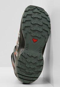 Salomon - XA PRO 3D MID J - Hiking shoes - black/stormy weather/cherry tomato - 5