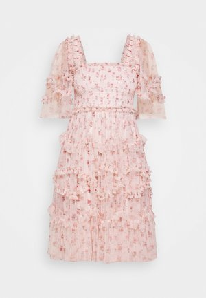 BIJOU ROSE MINI DRESS - Cocktailklänning - paris pink