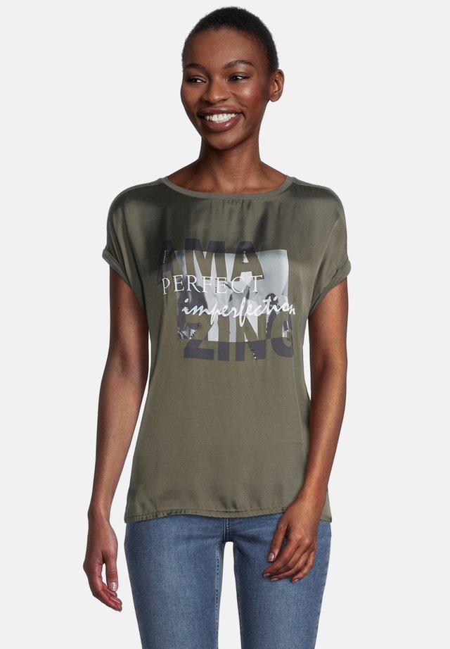 T-shirt print - khaki/grey