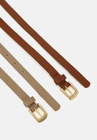 Anna Field - 2 Pack - Belt - cognac/taupe - 1