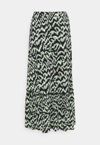 ONLY - ONLPELLA SKIRT - Maxi skirt - black/green milieu - 5