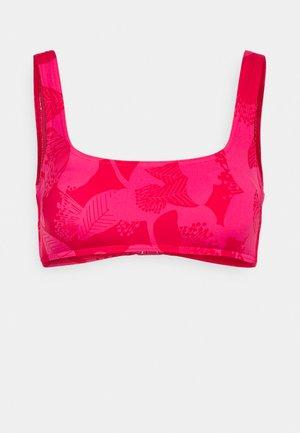FLORAL PRINT CROP - Bikini top - pink mix