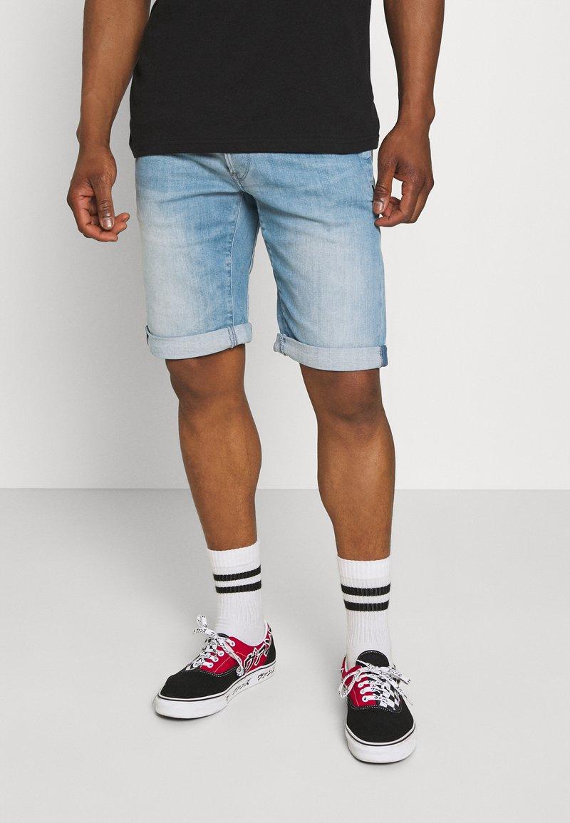 G-Star - D-STAQ - Denim shorts - sun faded aqua marine