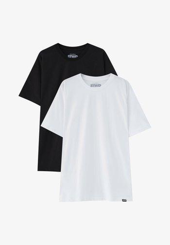 2PACK - OVERSIZED - T-shirt - bas - white