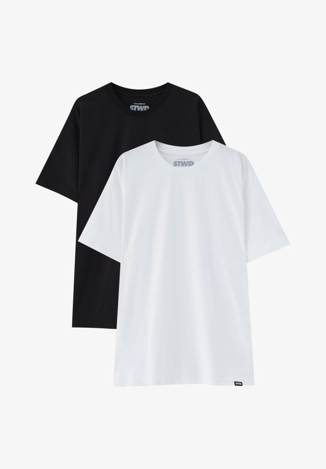 2PACK - OVERSIZED - Basic T-shirt - white