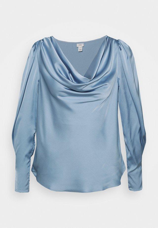 SAPPHIRE COWL NECK - Blus - blue