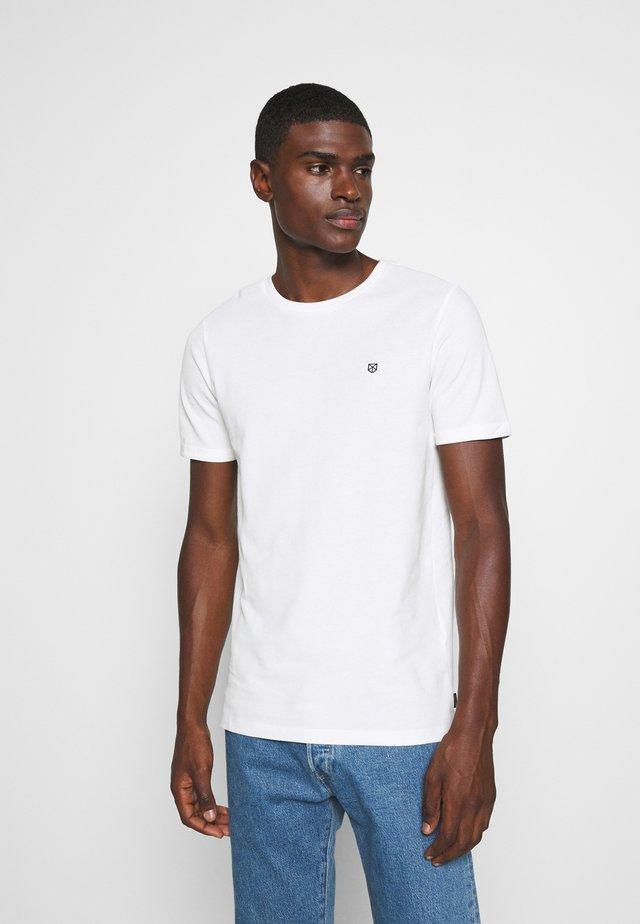 JPRBLAHARDY TEE CREW NECK - T-shirt basic - blanc de blanc