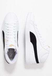 Puma - SMASH MID UNISEX - High-top trainers - white/black/team gold/high rise - 1