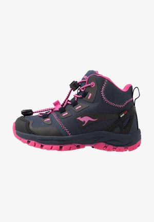TRAIKER MID RTX - Bottines à lacets - dark navy/daisy pink