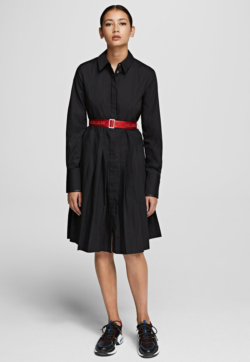 KARL LAGERFELD - Vestido camisero - black